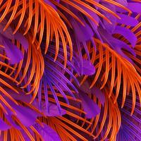 Fondo de hojas tropicales. Palma de la rama