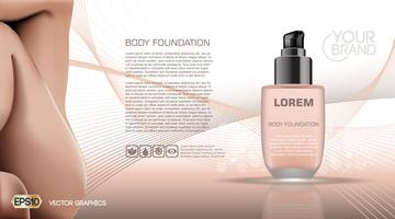 Moisturizing Lotion cosmetic ads template