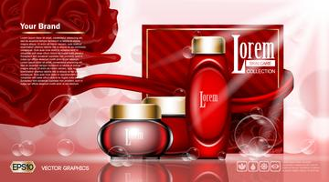 Moisturizing lotions collection cover mockup