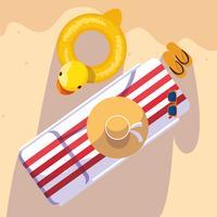 Hallo zomer- en vakantieontwerp