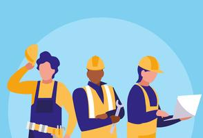 carattere di avatar di lavoratori industriali