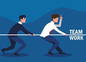 teamwork with business men
