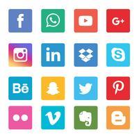 Ikoner för sociala medier