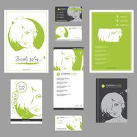 Grande conjunto de modelos de moda para design de cartão, folheto, cartaz, folheto e folheto.
