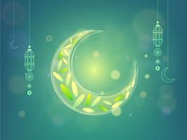 Creative Moon for Ramadan Kareem celebration.