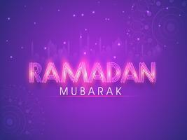 Plakat, Banner oder Flyer für Ramadan Mubarak.