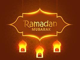 Grußkartenentwurf für Ramadan Mubarak.