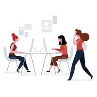 people working in workspace vector