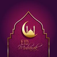 Eid mubarak background with decorative type