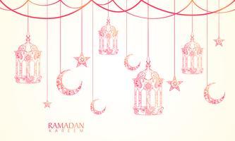 Grußkarte für Ramadan Kareem Feier.