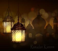 Komplizierte arabische Lampen mit Lichtern