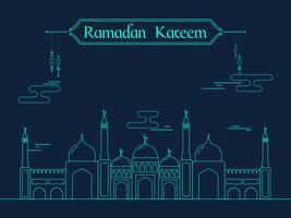 Kreative Moschee für Ramadan Kareem Feier.