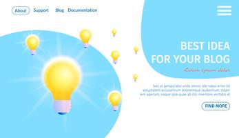 Best Idea for Your Blog Banner vector