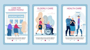 Advertising Poster Care for Elderly People Flat