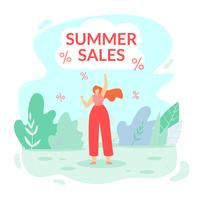 Inscription Summer Sales vector