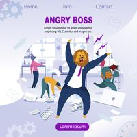 Angry Boss with Lion Head vector