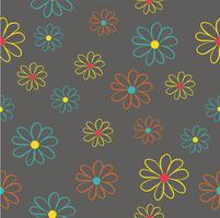 flowers seamless pattern vector