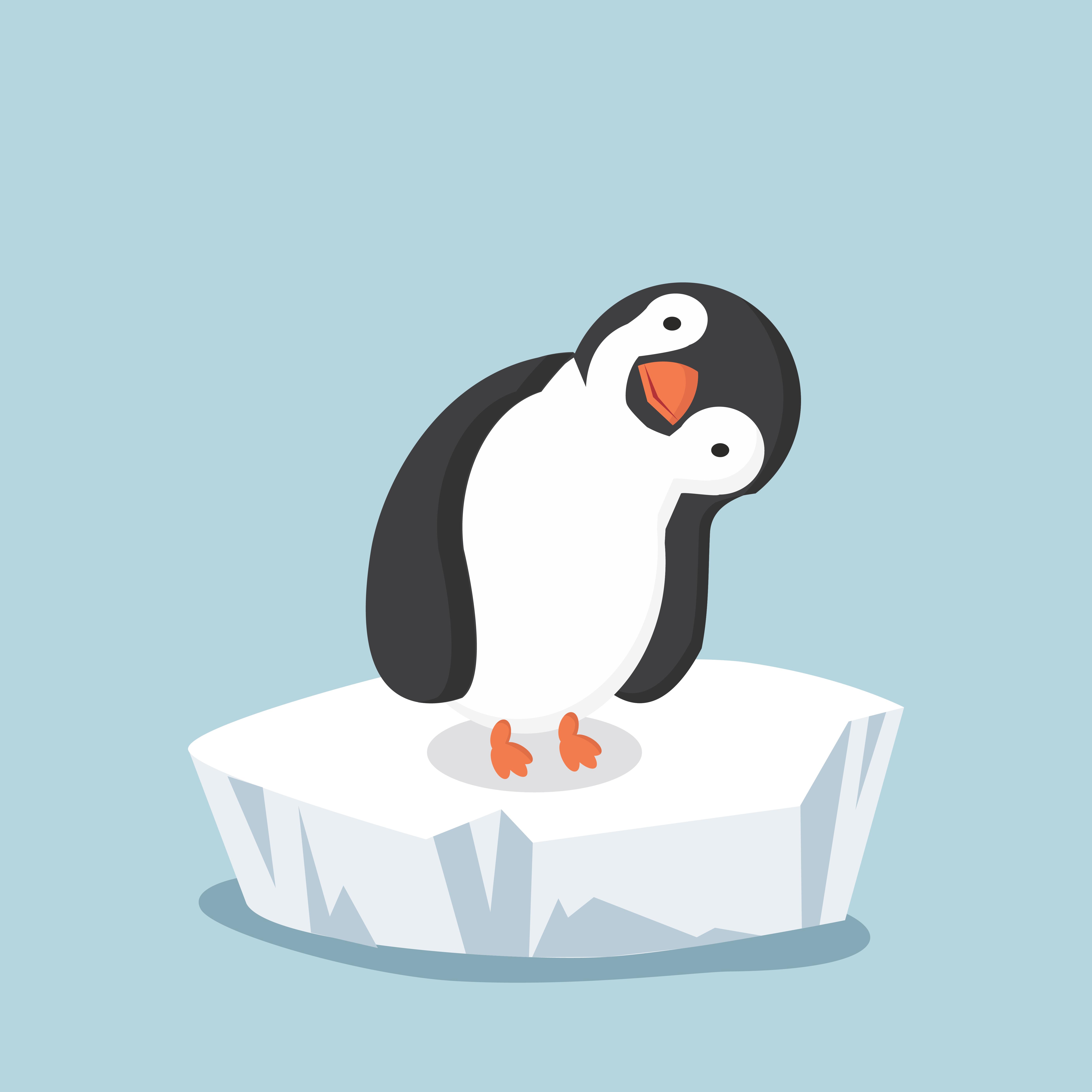 Pingouin Sur La Banquise Telecharger Vectoriel Gratuit Clipart