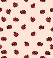 padrão de joaninha vermelho