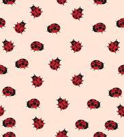 red ladybug pattern vector