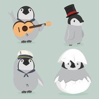 set di caratteri del bambino pinguino