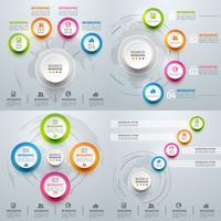 Collection d'infographies colorées de l'entreprise