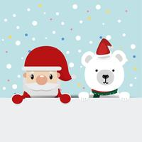 santa claus with bears  background