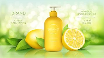 Körperlotion mit Zitrone