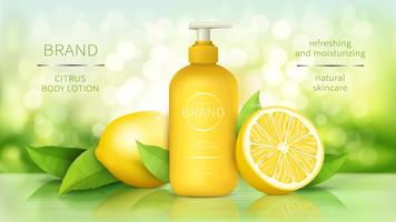 Body lotion with lemon