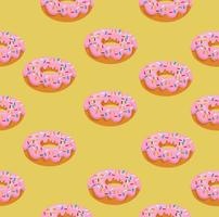 donut with pink glaze pattern