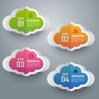 Färgglada moln infographic