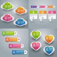 Collection d'infographie colorée