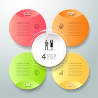 Résumé 3d options infographiques 4, modèle infographie concept commercial peut être utilisé pour la mise en page de flux de travail, diagramme, options de nombre,