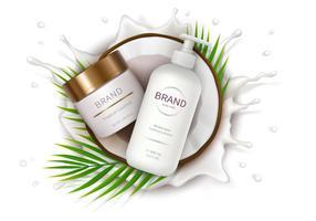 Cartel para crema natural orgánica.