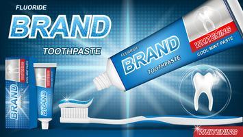 Pasta de dientes de menta brillante.