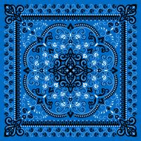 Ornament Paisley Bandana drucken.