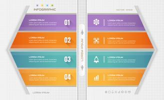 Infographics-Designschablone mit Geschäftsikonen, Prozessdiagramm, Illustration des Vektors eps10