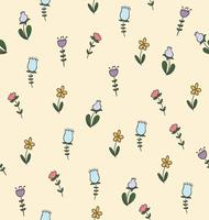 doodle flower seamless pattern
