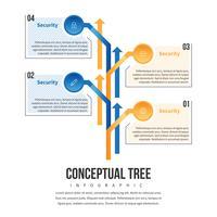 Infographie d'arbre concept