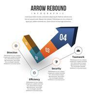 Infographie de rebond de flèche
