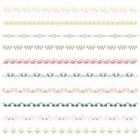 Beautiful vector line border set and scribble design element.