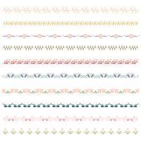 Beautiful vector line border set and scribble design element.