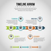 Línea de tiempo flecha infografía