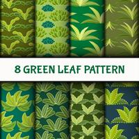 Green Leaf Pattern Set