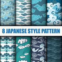 Japanese Seamless Patterns Set