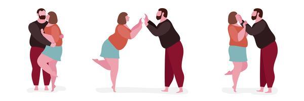 Par, gorda, personagem, ilustração