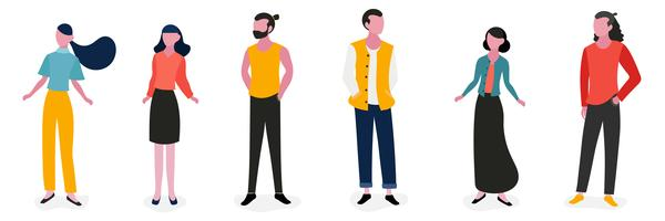 Lifestyle People Character Illustration Set