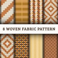 8 Vävd mönster bakgrundsuppsättning