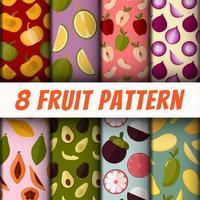 Set di sfondi di pattern di frutta
