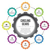 Circling Gear Infographic